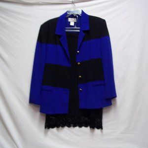 Blue and Black Outfit Size Large/12